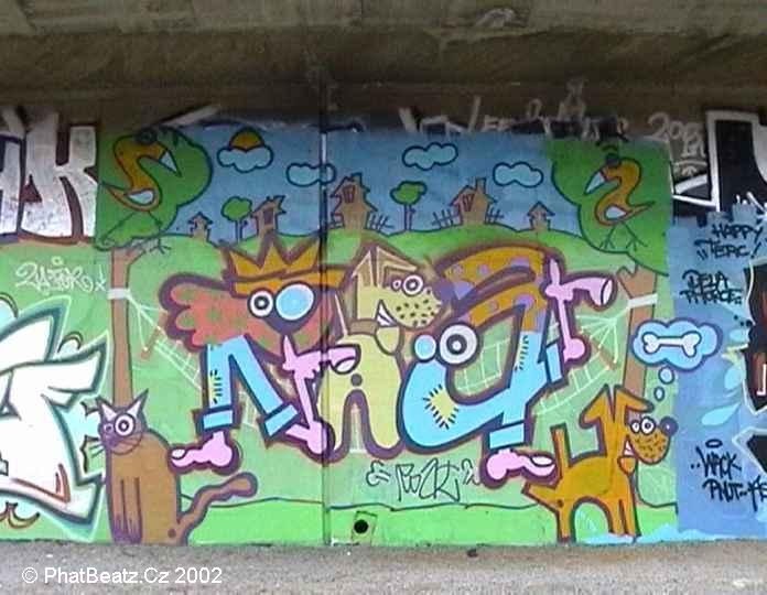 GraffBeatz - Barrandovský Most, Praha (9.4.2002)